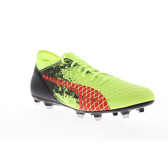 Puma Futuro 18.4 FG AG Mens Green Low Top Athletic Soccer Cleats Scarpe