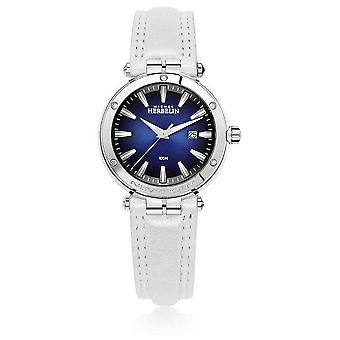 Michel Herbelin   Naisten Newport   Valkoinen nahka hihna   Sininen Dial   14288/AP15BLA Watch