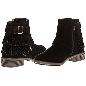 Sara Z Ladies Faux Suede Boot With Fringe And Buckles