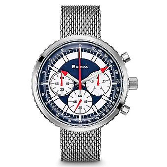 Bulova Special Edition Chronograph C 'quot;Stars And Stripes'quot; Mens Watch Box Set 96K101