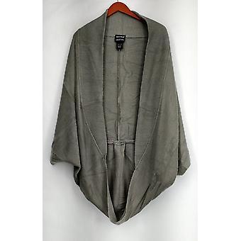 Lizden XS/S Marvelush Ribbed Shrug w/ Shawl Collar Gray A270284