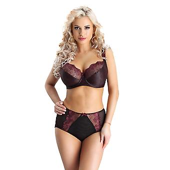 Nessa NO2 Women's Cher Purple and Black Full Panty Highwaist Brief