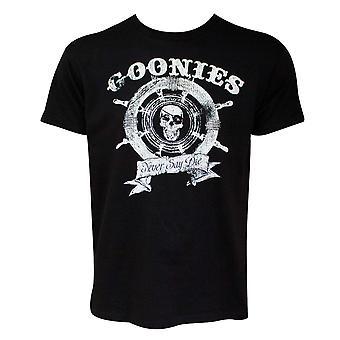 Goonies Wheel Logo Black Tee Shirt