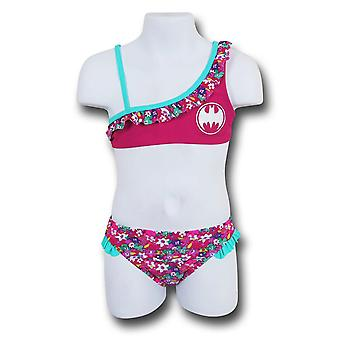 Batgirl Bloom One-Shoulder Bambini Bikini