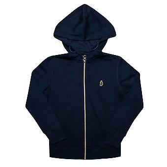 Infant Boys Luke 1977 Kev Large Zip Hoody In Navy- Zip Fastening- Adjustable