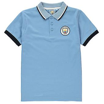 Source Lab Boys Kids Childrens Manchester City Fc Polo Shirt Sports Top