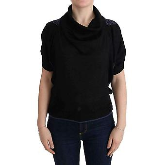 Costume National Black Turtleneck Wool Blouse -- TUI1179760