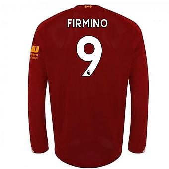 2019-2020 Liverpool Home Long Sleeve Shirt (Firmino 9)