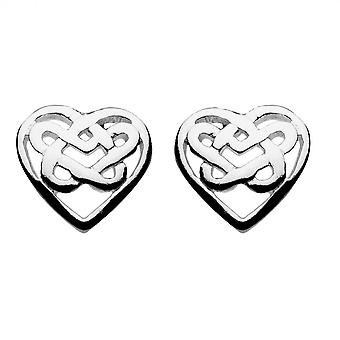 Kit Heath Heritage Celtic Bridie Heart Knotwork Stud 4215HP