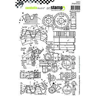 """Carabelle ستوديو """"التصميم الصناعي"""" يتمسكون بالطوابع، الأبيض/شفافة، A5"""
