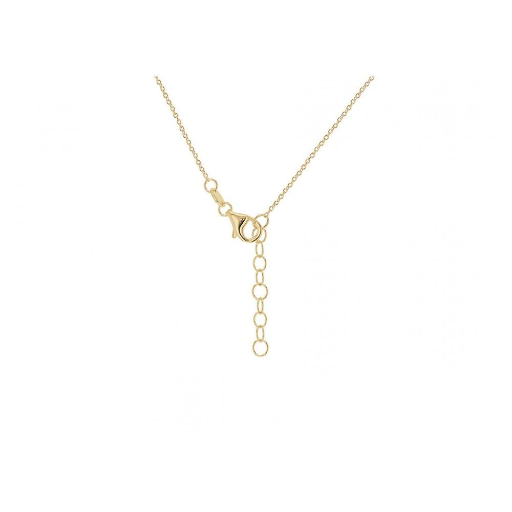 Eternity 9ct Gold Heart Padlock And Key Pendant And 16+1'' Chain