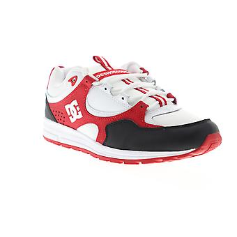 DC Kalis Lite  Mens White Red Leather Lace Up Athletic Skate Shoes