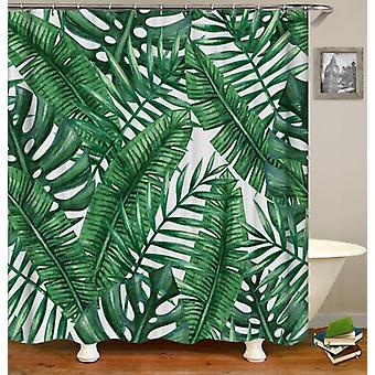 Green Leaves Painting Shower Curtain