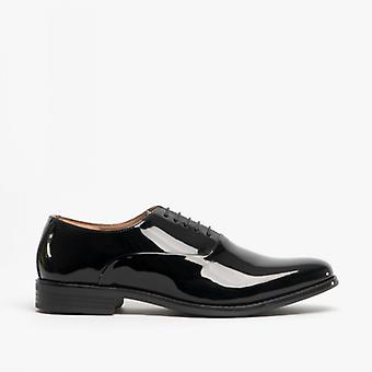 Blakeseys Harry Mens Oxford Shoes Patent Black
