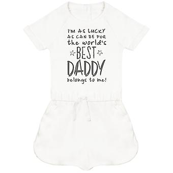 I'm As Lucky As Can Be Best Daddy belongs to me! Baby Playsuit