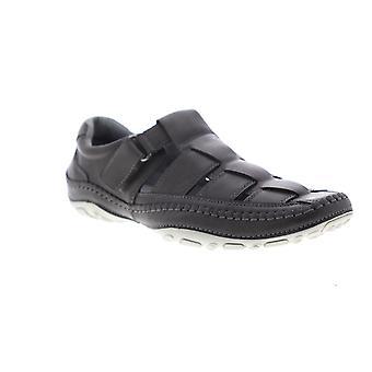 GBX Sentaur  Mens Gray Leather Strap Sport Sandals Shoes