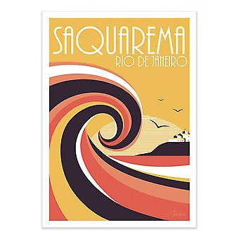 Art-Poster - Saquaremo Kleuren - Tom Veiga