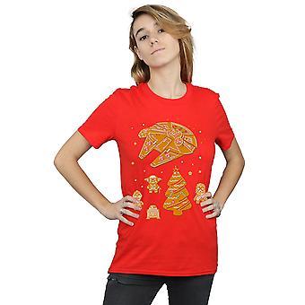 Star Wars Women's Gingerbread Rebels Boyfriend Fit T-Shirt