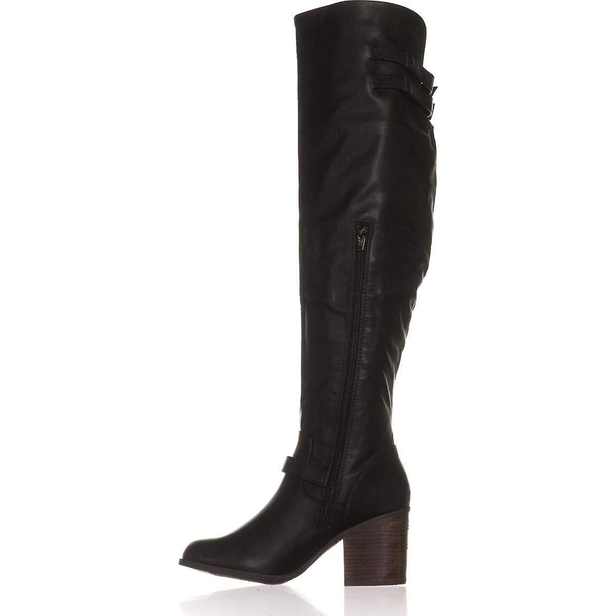 Material Girl Womens Modiana Almond Toe Knee High Fashion Boots