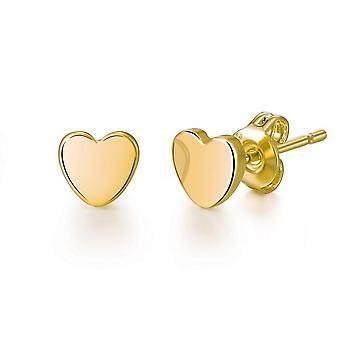 Örhängen guld hjärta