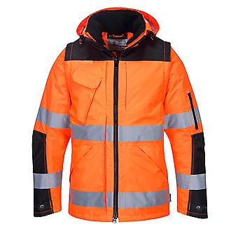 sUw - Hi-Vis Outdoor Executive Adaptable 3-in-1 Jacket With Pack Away Hood