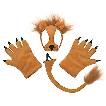 Bristol Novelty Childrens/Kids Lion Mask Tail And Paws Costume Accessories Set