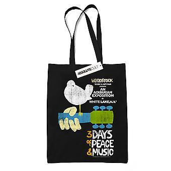 Woodstock Festival Poster Tote laukku