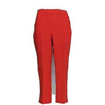 Isaac Mizrahi Live! Vrouwen ' s broek 24/7 stretch bijgesneden rode a223819