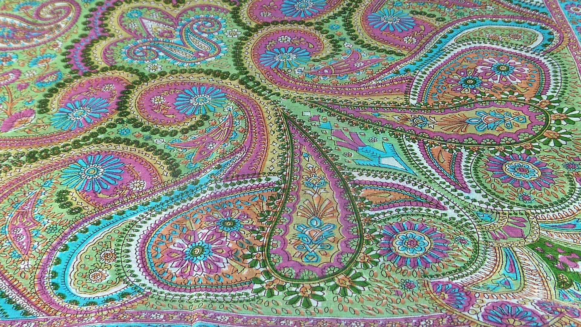 Mulberry Silk Traditional Square Scarf Kadri Sage by Pashmina & Silk