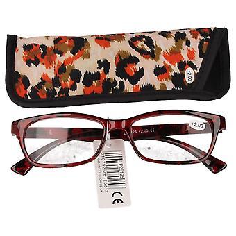 Kleine & Pavey luipaard print Leesbrillen