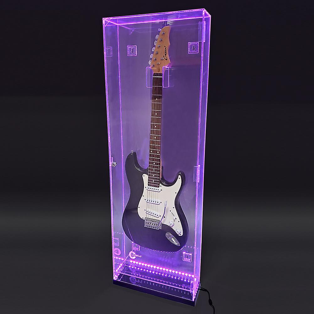 OnDisplay Deluxe Acrylic Wall Mounted/Tabletop UV-Protected Electric Guitar Display Case w/Lights