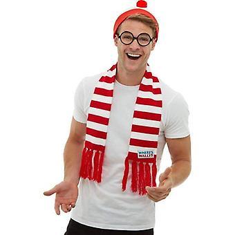 Hvor ' s Wally? Kit voksen rød/hvid