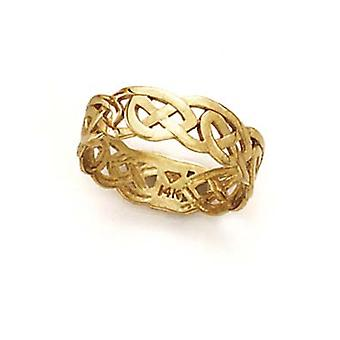 14k Yellow Gold Celtic Toe Ring Jewelry Gifts for Women - 2.3 Grams
