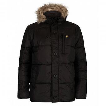 Lyle & Scott Black Zip Up Wadded Puffer Jacket JK1120V