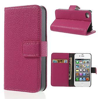 Suojaava kotelo puhelimen tapauksessa (flip cross) puhelimeen Apple iPhone 4 / 4s vaaleanpunainen