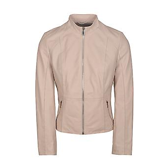 Palermo II Cafe Racer Leather Jacket in Ivory