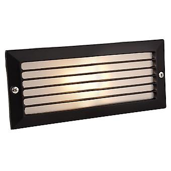 Firstlight Compac Black Outdoor Brick Light With Black Louvre