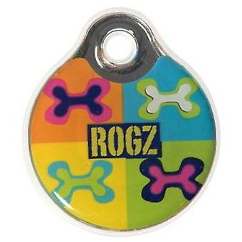 Rogz namnskylt rogz Idr27-Bw (hundar, kragar, Leads och selar, tillbehör)