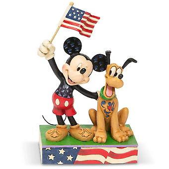 Disney Traditions A Banner Day Mickey & Pluto Figurine