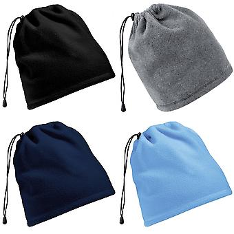 Beechfield Unisex Suprafleece Anti-Pilling 2in1 Winter Hat And Neck Warmer/Snood