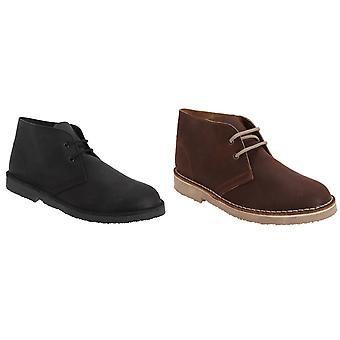 Roamingtaxorna vuxna Unisex ofodrad nödlidande läder Desert Boots