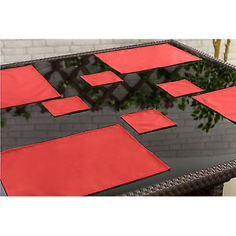 Gardenista Outdoor Dining Water Resistant Coaster Tableware, Pack of 4 Red