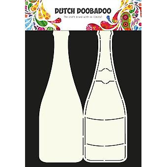 Dutch Doobadoo Dutch Card Art Stencil Champagne bottle A4 470.713.602