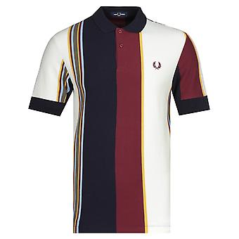 Fred Perry lodret multi stribe polo shirt