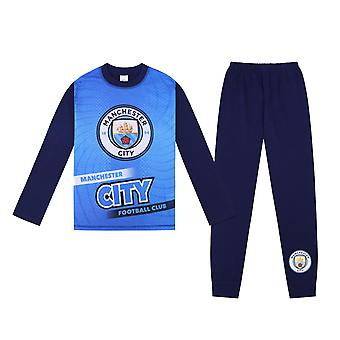 Manchester City FC Official Football Gift Boys Sublimation Long Pyjamas