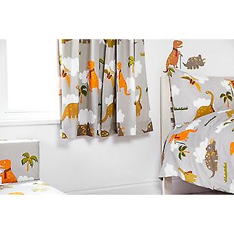 Ready Steady Bed Jurassic Design Children-apos;s 66-quot; x 72-quot; Curtain Pair with Tie Backs