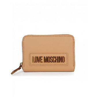 Love Moschino Accessories Letter Logo Small Zip Around Purse