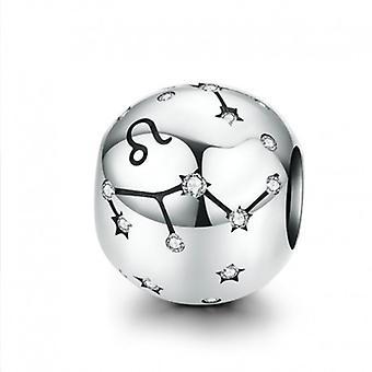 Sterling Sølv Charm Stjernetegn Tegn Leo Med Zirconia - 6178