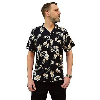 Chet Rock Skulls & Flowers Shirt XXL