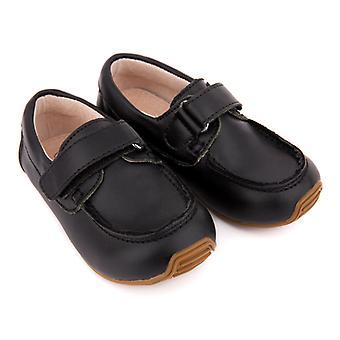 SKEANIE taapero ja lasten nahka kannella kengät musta